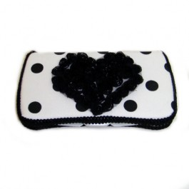 """White and black polka dots baby wipes cases """"Dallas"""""""