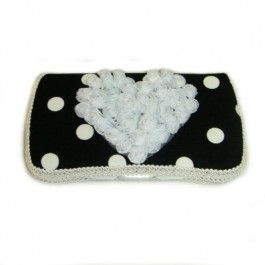 """black and white polka dots baby travel wipes case """"Dylan"""""""