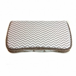 Grey Chevron Baby travel wipes case