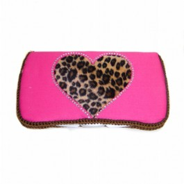 NEW!Wild Love Pink HEART -Travel Wipes Case