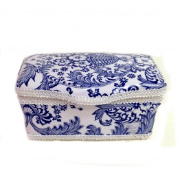 New! Blue Toile Vintage Laminated baby wipes case