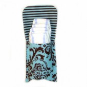 AB-07 Blue Cupcake- Diaper and Wipes Pouch