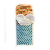 AB-17 Blue dots bloom- Diaper and Wipes Pouch