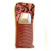 AB-12 Pink Cupcake- Diaper and Wipes Pouch