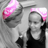 AB-30 Pretty in Pink- Reversible Headband
