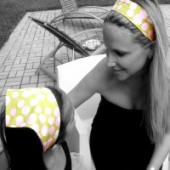 AB-34 Garden Dots Reversible Headband