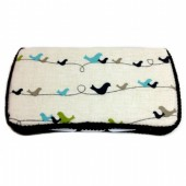Birds on a Wire baby wipes case