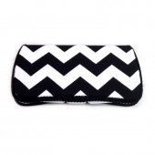 Black chevron baby wipes case