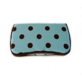 Blue Cupcake Polka Dots- Signature Wipes Case