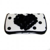 "White and black polka dots baby wipes cases ""Dallas"""