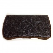 Espresso leather baby wipes case