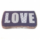 Grey LOVE baby wipes case