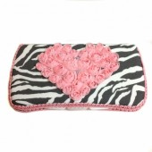 Grey Zebra with Pink Heart