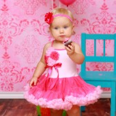 Hot Pink Cotton Candy Party Dress