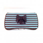 Blue and brown baby wipes case Lillian