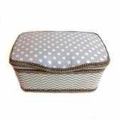 Grey Chevron Baby wipes case