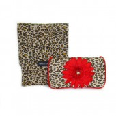 NEW!!! Cheetah+ Red Flower- Travel Duo Set
