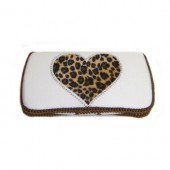 NEW!Wild Love White HEART -Travel Wipes Case