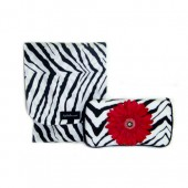 NEW!!! Zebra + Pink Flower- Travel Duo Set
