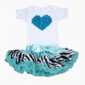 NEW!! Zebra Turquise Love Tutu