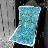 NEW!! AB-51 Peacocks- Reversible Stroller Liner