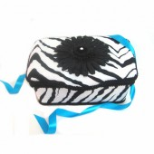 NEW!! Black Zebra- Animal Print Nursery Wipes Case