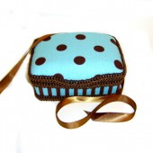 NEW!! Blue Cupcake- Signature Petite Wipes Case