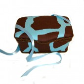 NEW!! Little Giraffe Blue- Animal Print Nursery Wipes Case