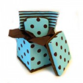 NEW!! Square Blue Cupcake Gift Basket- AB-04