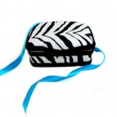 NEW!! Zebra- Signature Petite Wipes Case