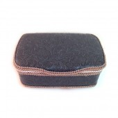 Grey leather baby nursery wipes case