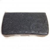 Grey Leather baby wipes case