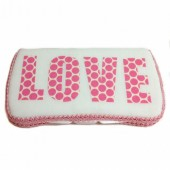Pink LOVE bay wipes case