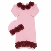 Shabby Chic Bordo & Pink Baby gown
