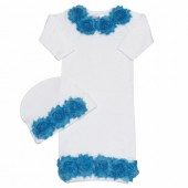 Shabby Chic Turquoise & White Baby gown