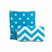 Chevron Aqua Travel duo set