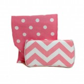 Chevron Blush Travel duo set