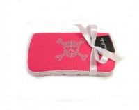 Bling Skull in Pink- Bling Wipes Case