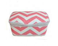 AB-67 Chevron Blush Nursery wipes case