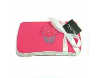 Bling Cupcake in Pink- Bling Wipes Case