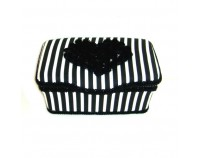 Black and white stripes nursery wipes case Drew