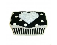 "Black and white polka dots nursery case ""Dylan"""