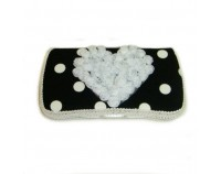 "black and white polka dots baby travel wipes case ""Dylan"""