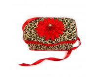NEW!! Cheetah and Red Flower- Animal Print Nursery Wipes Case