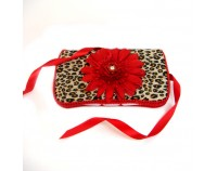 NEW!! Cheetah and Red Flower- Signature Wipes Case
