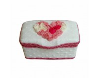NEW!! Multi Love White - Nursery Wipes Case