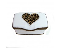 NEW!! Wild Love Heart White - Nursery Wipes Case